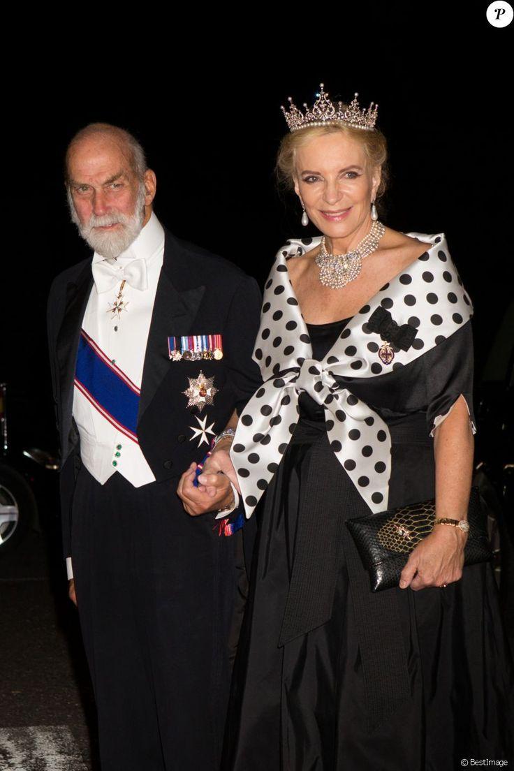 Le prince Michael de Kent et Marie-Christine von Reibnitz, princesse Michael de Kent au dîner du mariage du prince Leka II d'Albanie et d'Elia Zaharia au palais royal à Tirana, le 8 octobre 2016