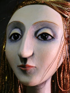 John Roberts Carved marionettes for the Little Angel Theatre'