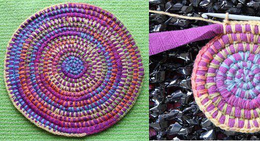 Tapetes y alfombras de trapillo y lana: El Tutorial, Crochet, Wallpaper, Trapillo With, Carpets, Fabrics Strips, Clicking, Of Trapillo, Wool