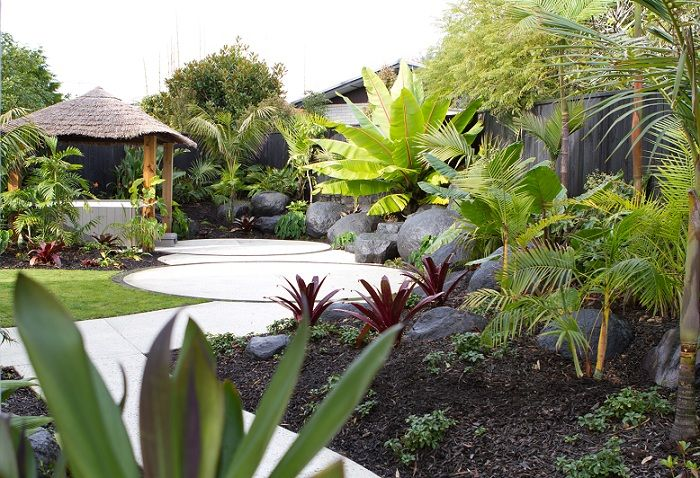 """The brief on this Mairangi Bay property in simple terms was """"I want to be in Fiji without leaving my backyard"""". Peter Fry Landscaping, New Zealand"""