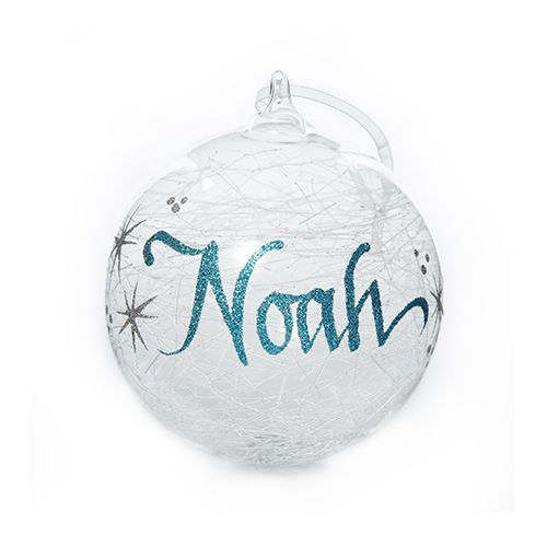 Icicle Glass Personalised Christmas Bauble