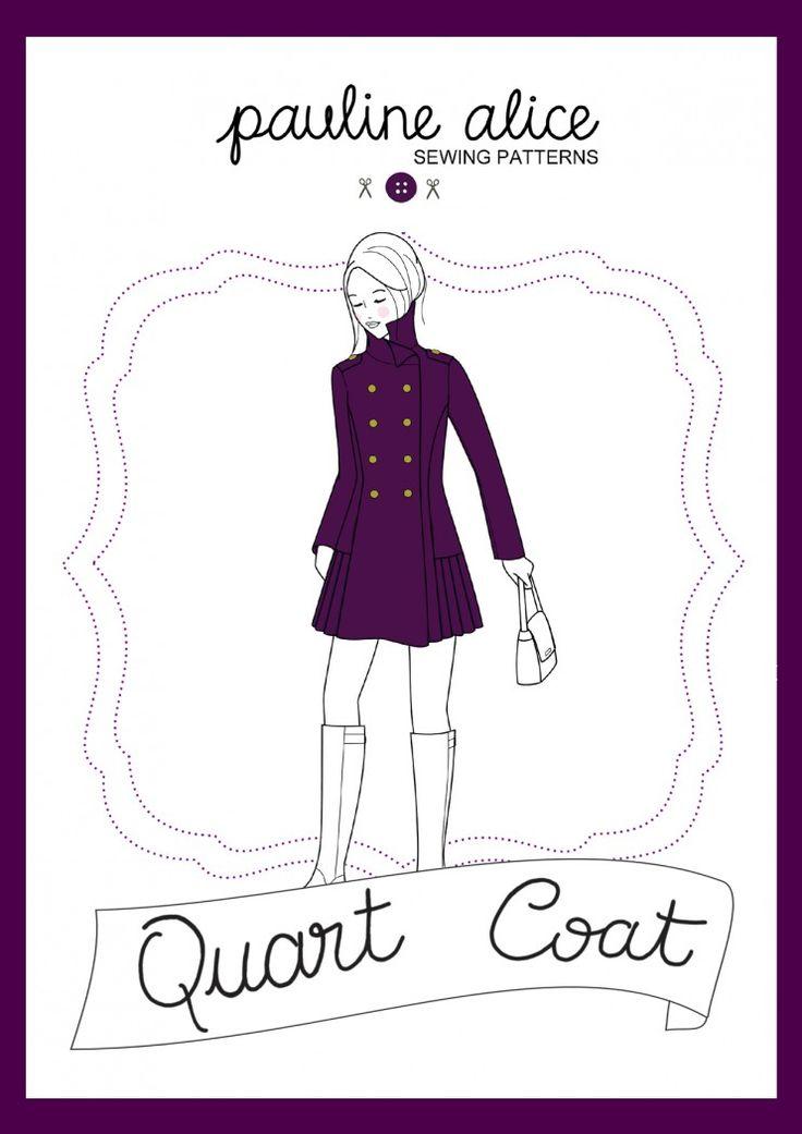 Patron de couture manteau Quart par Pauline Alice