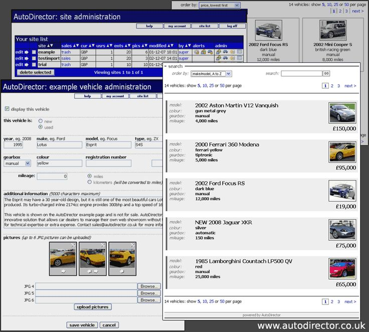 AutoDirector is a vehicle showroom management system for