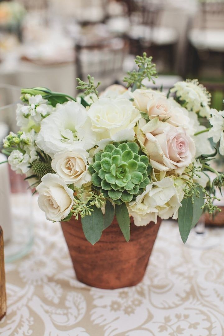 elegant wedding centerpiece; photo: SMS Photography