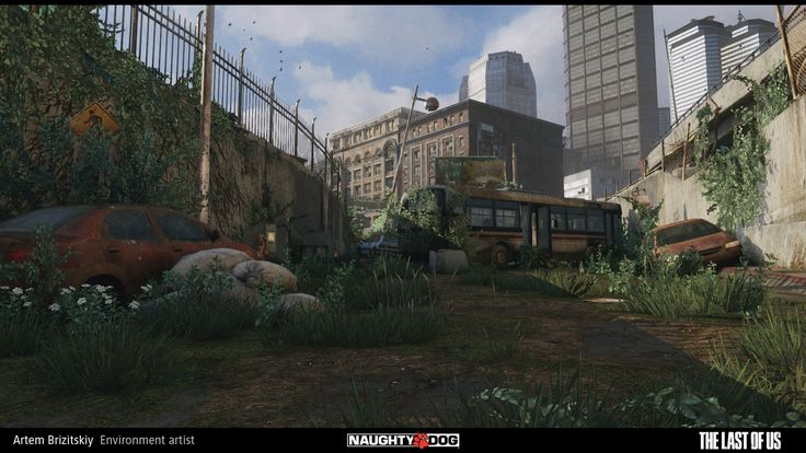 ArtStation - The last of us - Hunter City - underpass area, Artem Brizitskiy