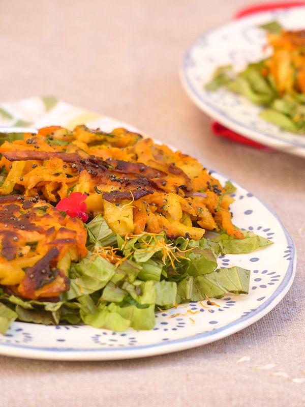 Doux et piquants, croustillants et moelleux, une recette pleine de surprises, celle des röstis de potiron à la farine de lupin. Facile, rapide et savoureux.