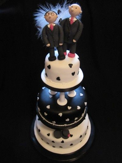 Fully personalised handcrafted Civil ceremony toppers on their cake.