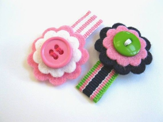 little girl barrettes from etsy.