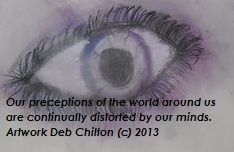 Pastel on paper -   We often distort the view of the world.