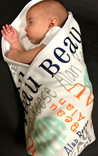such a great gift idea - personalized baby blanket