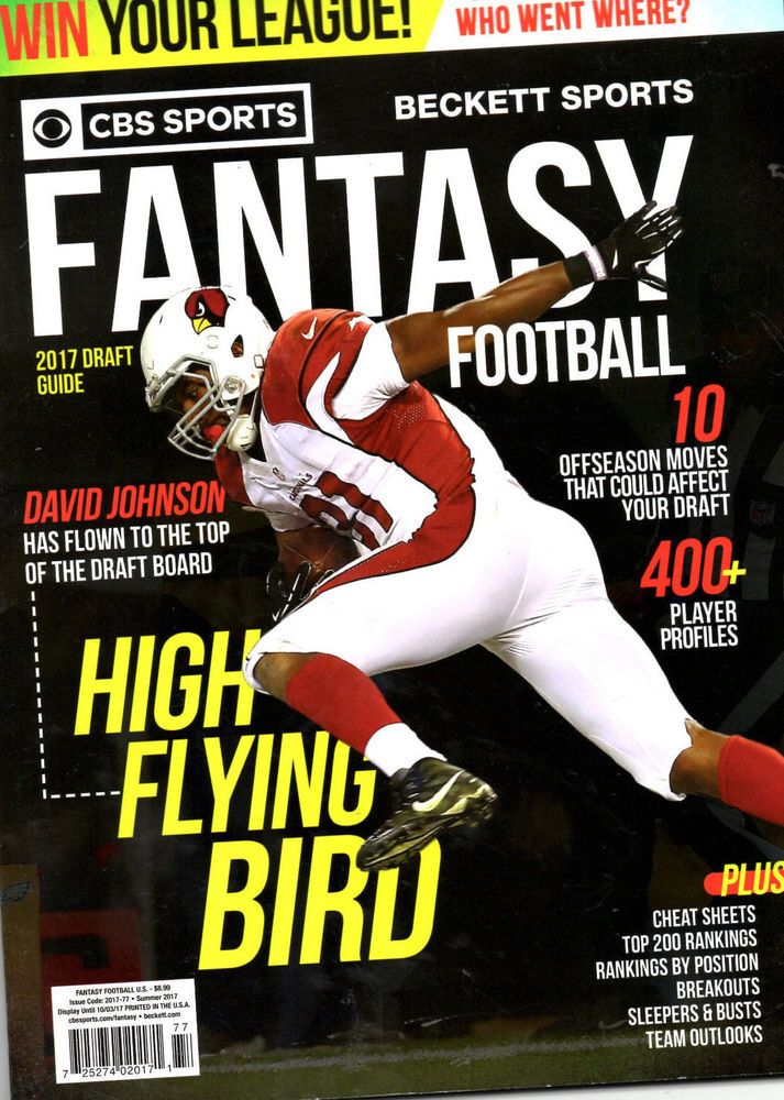 Cbs Sports Beckett Football Magazine Fantasy Football New Nfl Football Cbs Sports Fantasy Football Football