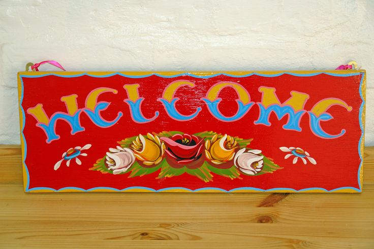 B-Ref:002 Welcome sign. Painted on a solid piece of wood in traditional narrowboat font. Measures 49 cms x 18 cms. Collection from Nicky Sharp Reclaimed Interiors – Tring. £22. This and much more is available from Nicky Sharp Reclaimed Interiors - Tring.