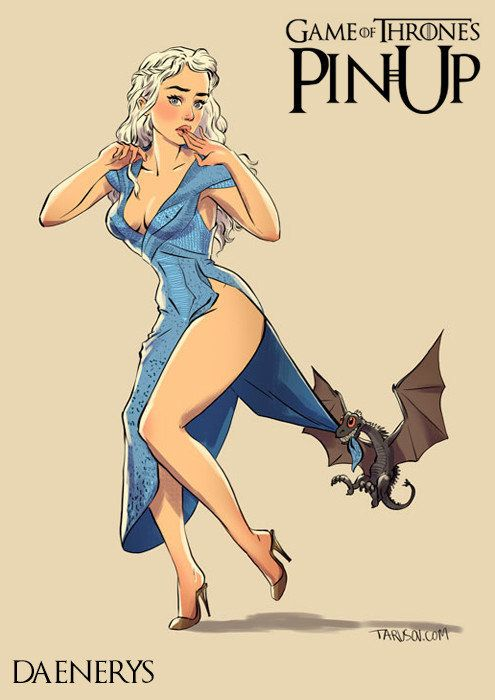 "The ladies of ""Game of Thrones"" – in pin-up style   – Art M. Pinup"