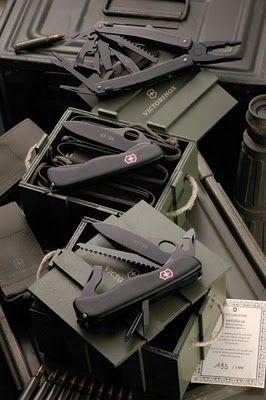 Victorinox Military Kit (France & Italy), 2010 Limited Edition - Victorinox Sprint X tool =US $89.49 Buy It Now // New Victorinox Swiss Army 111mm LOCK Knife NON-SERRATED SENTINEL PLUS 54894 =US $19,95 /  Victorinox Swiss Army Knife Black One Hand Trekker NS w/ Lockblade 54875 **NEW** = US 37.95