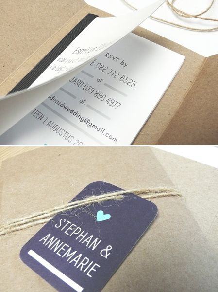Booklet wedding invitation by Little Red Rabbit