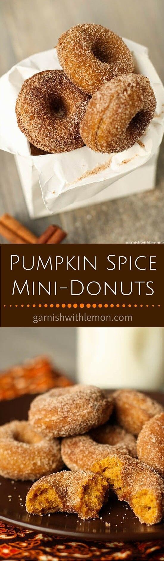 Pumpkin Spice Mini-Donuts