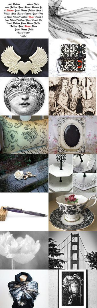 BLACK AND WHITE  by Bohemianredjewelry on Etsy--Pinned+with+TreasuryPin.com