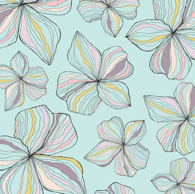 Pretty 'Blossom Floral' from Elizabeth Smith http://ellejanedesigns.blogspot.com/ #patterns #flowers #surface_design