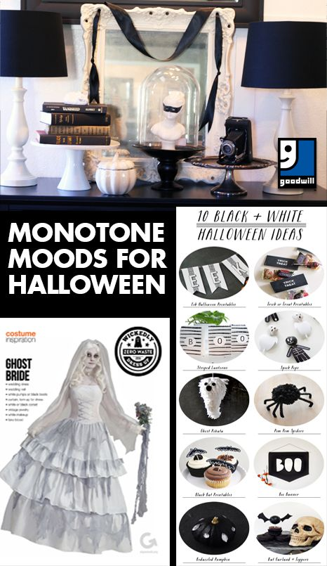 monotone moods for halloween celebrate the fall spirit with some black and white costume ideas - Diy Halloween Projects