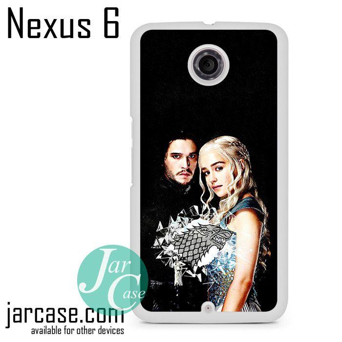 Game of Thrones Jon Snow & Khalesi Phone case for Nexus 4/5/6