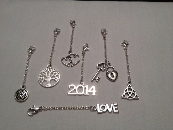 Metal Charms for Handfasting Cords with chain by beachbumcraftsfl, $2.00