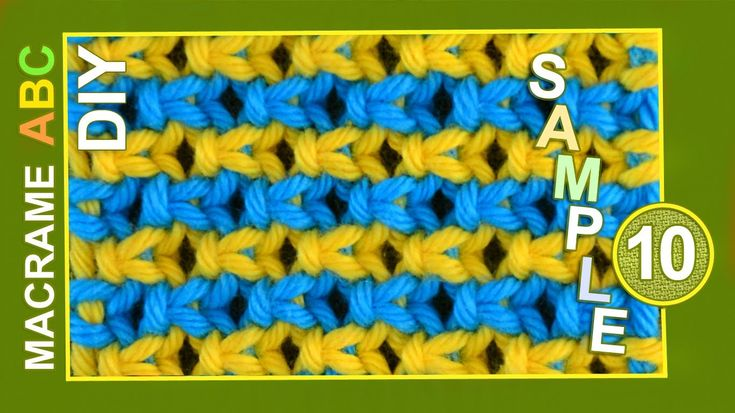 Simple, coloful pattern sample for various useful macrame projects. In this pattern we used Square knot.