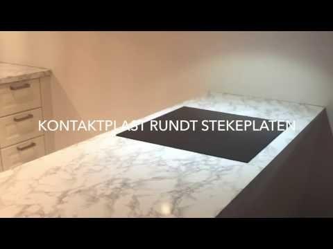 VIDEO: Hvordan montere kontaktplast pent rundt ovntoppen ✨ Se video på bloggen vår nå   #marmorfolie #kontaktplast #kjøkkenbenk #howto #diy