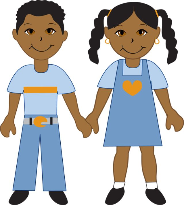 Kids Of Diverse Races: African American Boy and Girl