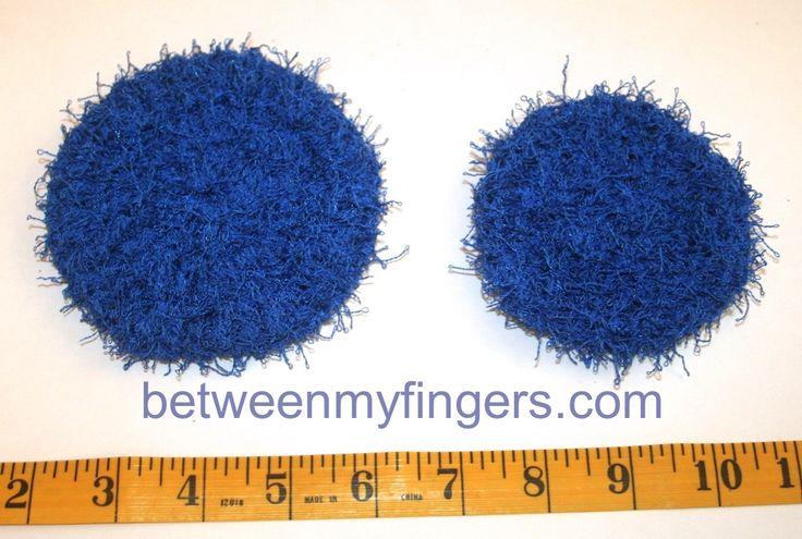 Two sizes of scrubby
