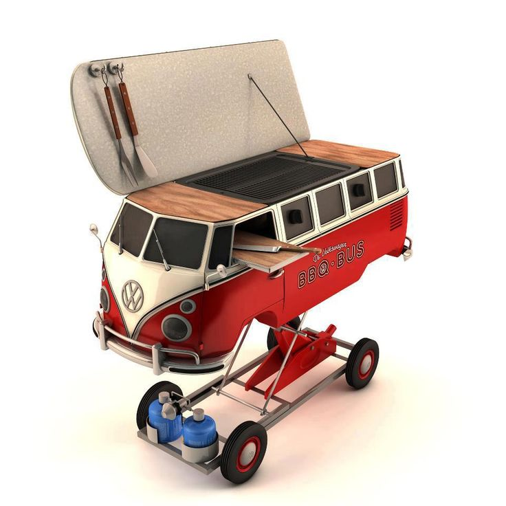 The VW BBQ Bus. Check out this website! Amazing VW everything!