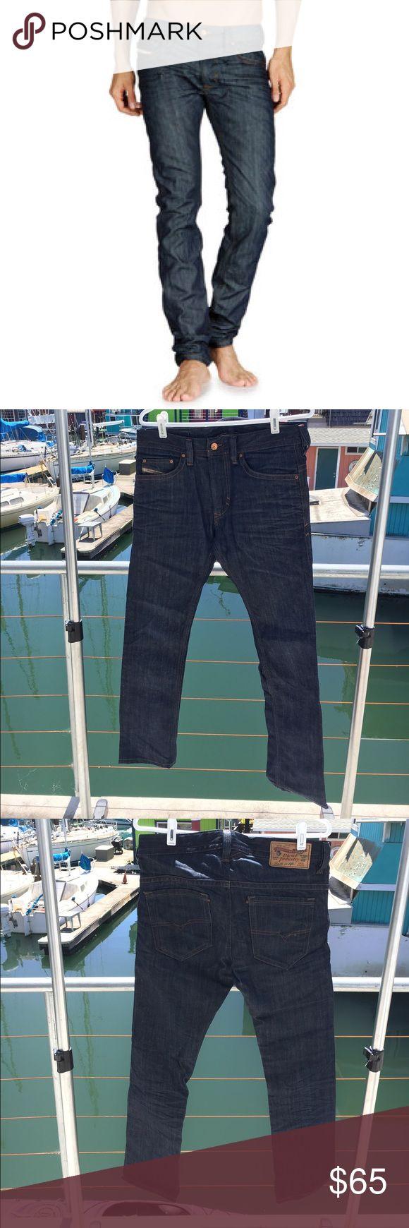 Diesel Denim Jeans Thavar slim-skinny cut W_28 L_32 Thavar cut  Wash 0880G     Excellent condition, aside from a small snag in stitching. Diesel Jeans Slim