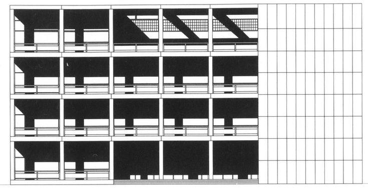 Casa del Fascio - Giuseppe Terragni Alpitecture drawings - dramatisches weises interieur design beeinflusst escher