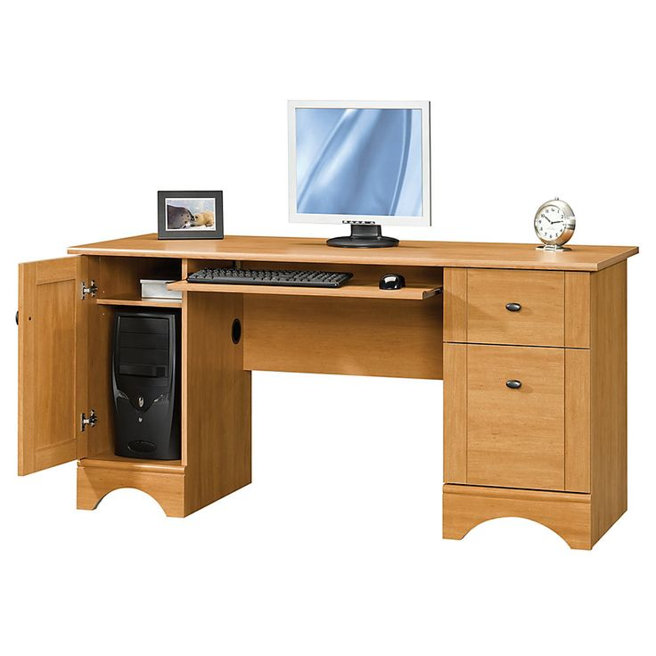 Realspace Dawson 60 Computer Desk 30 H X 60 W X 24 D Canyon Maple Bedroom And More