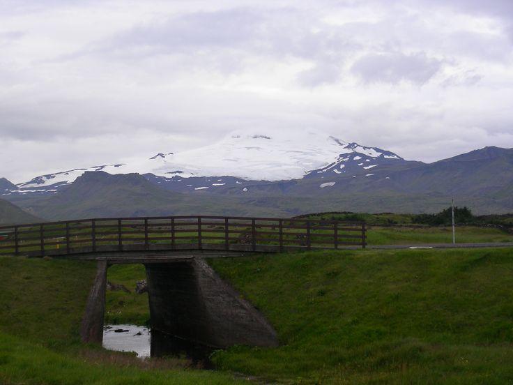 Nice bridge in iceland
