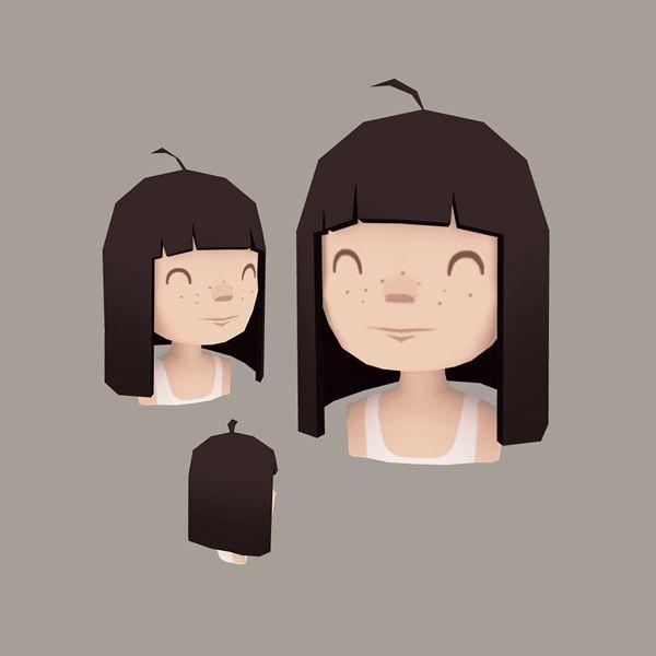 Girl head by enkana