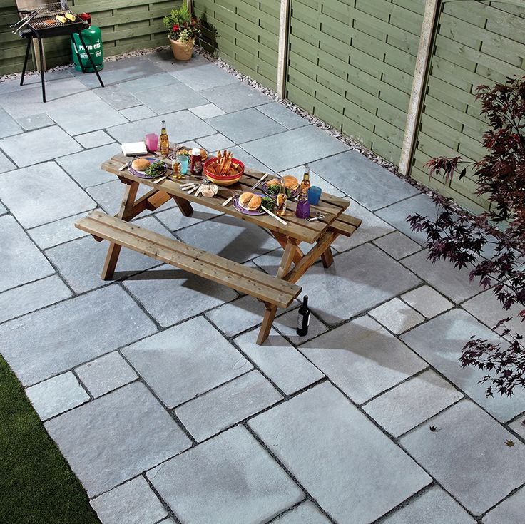 Steel Blue Limestone Flagstones | Landscaping | Patio | Garden Path | Hand cut traditional paving