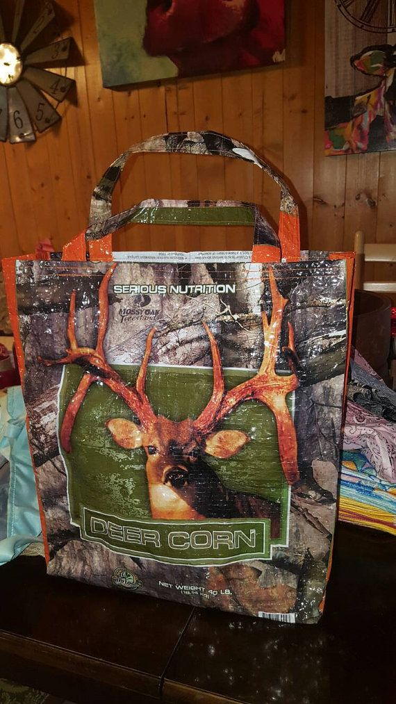 Check out this item in my Etsy shop https://www.etsy.com/listing/480931371/recycled-camo-deer-corn-feed-sack-wa-big