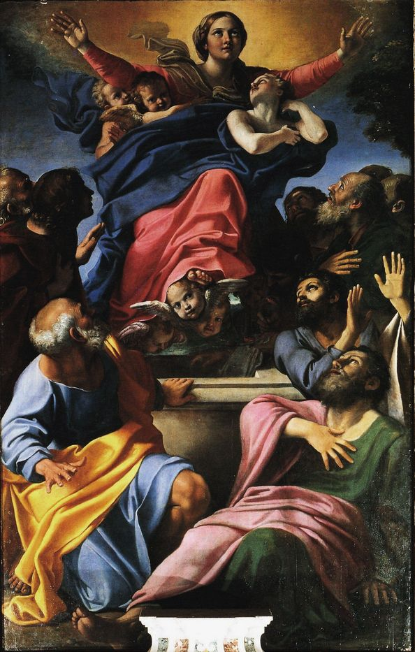 Annibale Carracci, Assunzione della Vergine,1600-1601, Basilica di Santa Maria del Popolo, Roma