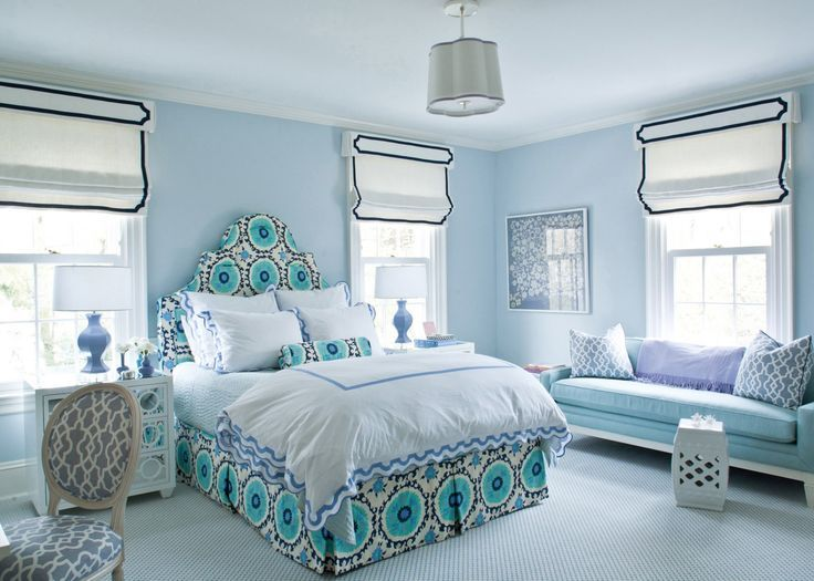 Blue and white girls bedroom by Ashley whittaker