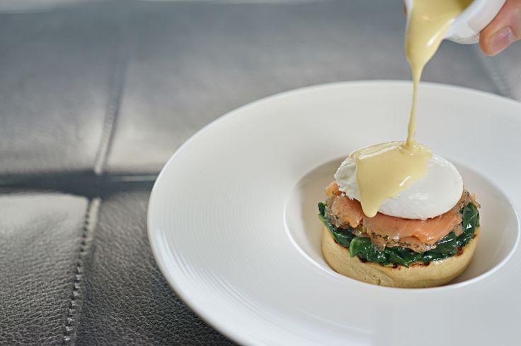 Eggs florentine.  Orbit restaurant, Luna2 studiotel, Bali. #Lunafood #food #design #chef #restaurant #cosmic #eggsflorentine