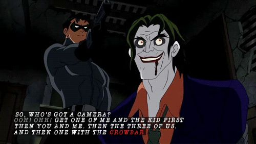 """I always think I won't be able to accept the """"new"""" person/actor. This guy proved me wrong. Loved this Joker voice actor! Someone give me a name, I feel like an idiot over here!"""