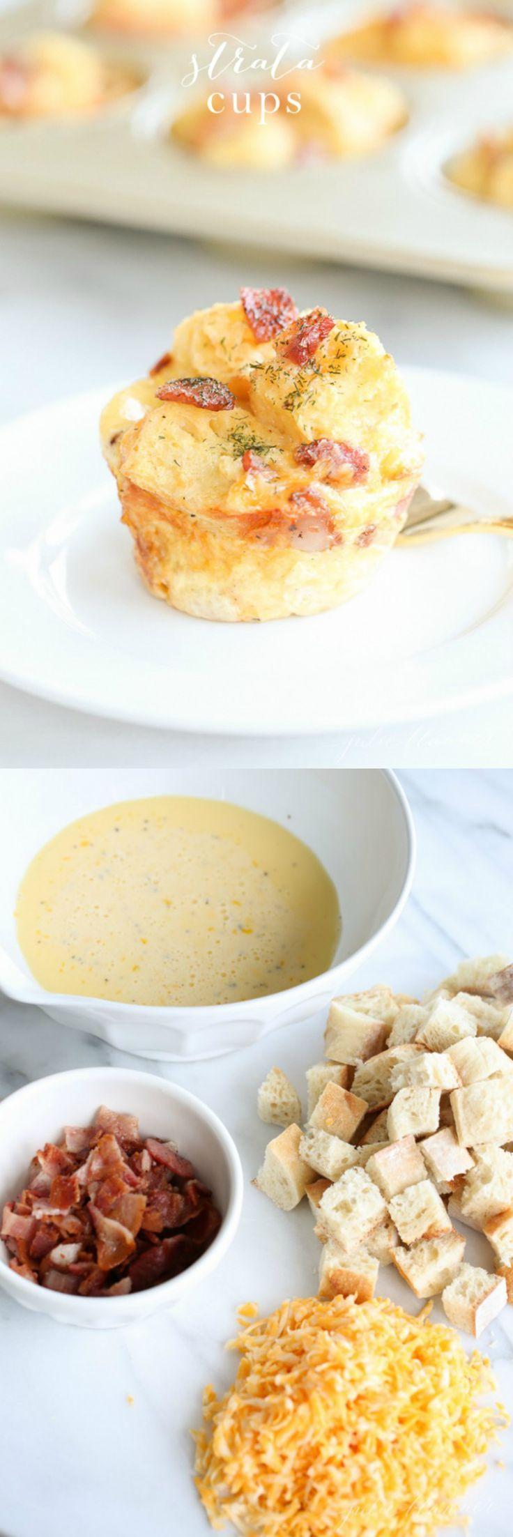 Mini Breakfast Strata - easy to make brunch recipe
