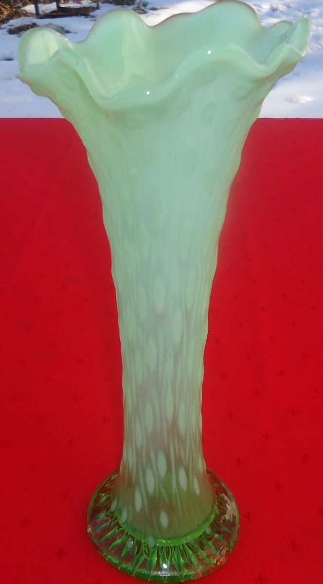 73 best northwood glass images on pinterest carnival glass vase beautiful vtg northwood green opalescent tree trunk vase ex cond 11 ebay reviewsmspy