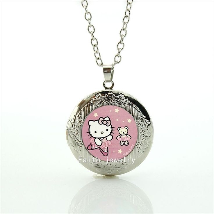 The most popular cartoon character cute cat photo locket necklace handmade jewelry gift for children and kids HH185 \\\\\\\/\\\\\\\/Price: $US $1.93 & FREE Shipping \\\\\\\/\\\\\\\/     #hashtag4