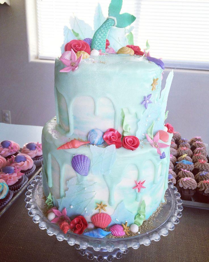 The 25 best Mermaid birthday cakes ideas on Pinterest Mermaid