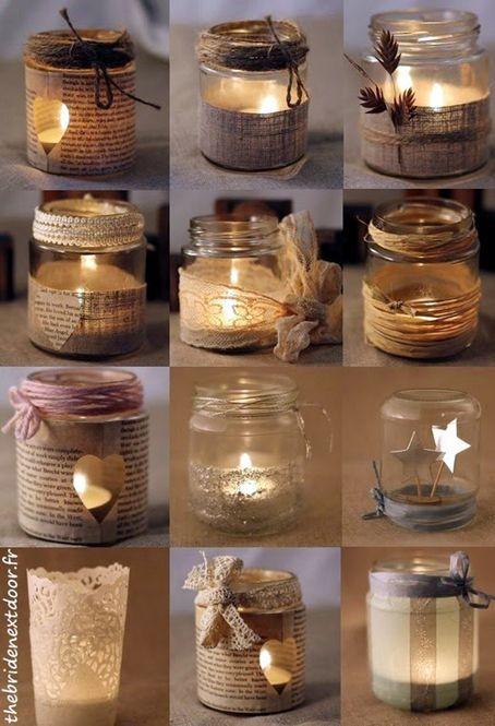 Reciclado de frascos de dulce para iluminar espacios en forma decorativa y segura.  Contacto l https://nestorcarrarasrl.wordpress.com/e-commerce/  Néstor P. Carrara S.R.L l ¡En su 35° aniversario!                                                                                                                                                     Más