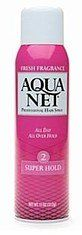 Aqua Net Super Hold Aerosol, 11 oz by Aqua Net. $3.45. Crystal-clear formula would not flake or build up.. All day hold for lasting control.. Gives your hair body and volume without being too stiff or sticky.. Superior Control for Superior Hairstyle  A superior hairstyle demands higher holding power and control. Aqua Net Super Hold Aerosol Hair Spray has been specially formulated to make it all too easy for you to sport that exotic hairstyle. It gives your hair body and...
