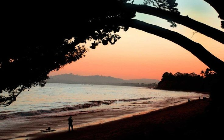 Sunset at Butterfly Beach, Santa Barbara, California