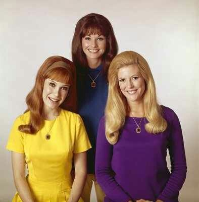 The Bradley Sisters..Betty Jo, Bobbie Jo, and Billie Jo.  Linda Kaye Henning, Lori Saunders, and Meredith MacRae.