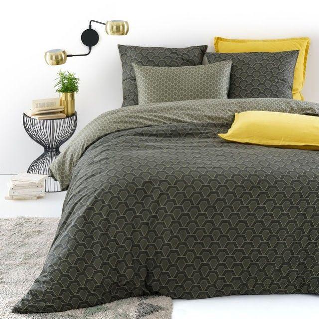 Combinação de cinza e amarelo na decoração do quarto